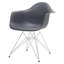 Poly and Bark Eames Style Molded Plastic Eiffel Armchair, Gr