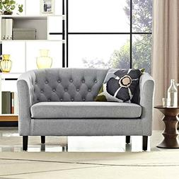 Modway Prospect Upholstered Contemporary Modern Loveseat In