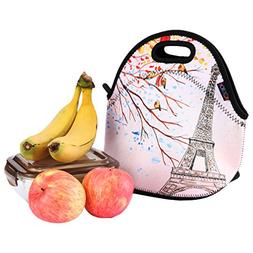 iColor Effiel Tower Insulated Neoprene Fashion Lunch Picnic