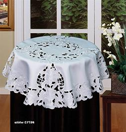 Creative Linens Embroidered Floral Table.