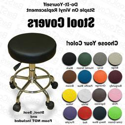 EXAM STOOL SEAT COVER Replacement Vinyl STAPLE ON - Massage,