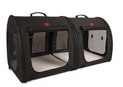 One for Pets Fabric Portable 2-in-1 Double Pet Kennel/Shelte