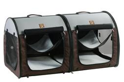 One for Pets Fabric Portable Dog Cat Kennel Shelter, Double,