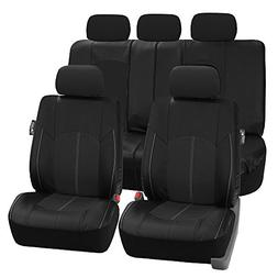 FH-PU008114 Perforated Leatherette Full Set Car Seat Covers,