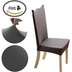 Kukcone Fit Stretchy Washable Short Dining Chair Covers Remo