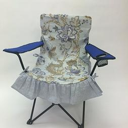 Floral Vintage Glam Camping Chair or Sports Chair Slipcover