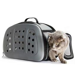 FRiEQ Foldable Hard Cover Pet Carrier Shoulder Strap Travel