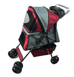 Jespet Four Wheel Pet Stroller, for Cat, Dog and More Foldab