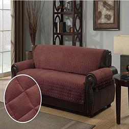 Furniture Protector Pet Cover Quilted Microsuede Sofa 110 X