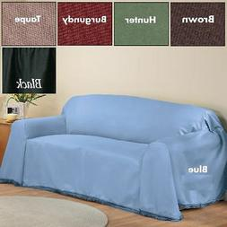MADISON FURNITURE SOLID COUCH THROW COVER FOR SOFA, LOVE SEA