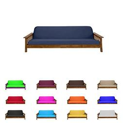 Futon Mattress Cover Solid Color Choose Color and Size Twin