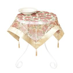 SARO LIFESTYLE GL36S Square Table Topper, 36-Inch, Gold