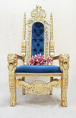 """Gorgeous 70"""" Tall Hand Carved King Lion Party Throne Chair -"""
