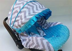 baby gray blue infant car seat cover canopy cover fit most i