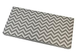 "Gray / Grey and White Chevron 3"" Thick Foam Swing / Bench /"