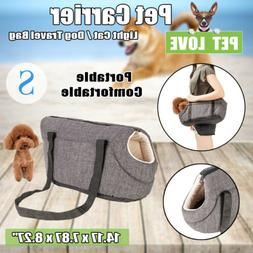 Gray Small Pet Carrier Purse Dog Cat Travel Bag Puppy Outdoo