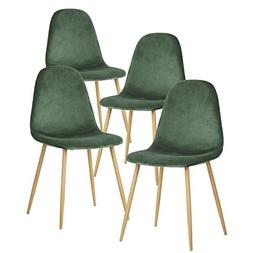 GreenForest Dining Chairs,Elegant Velvet Back and Cushion, M
