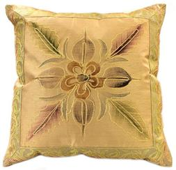 """Hand Painted Deluxe Floral 16"""" X 16"""" Throw Pillow Cover, Set"""