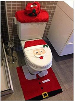 Blugibedramsh Happy Santa Claus Snowman Christmas Elf Toilet