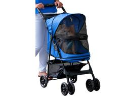 Pet Gear Happy Trails No-zip Pet Stroller for Cats/Small Dog