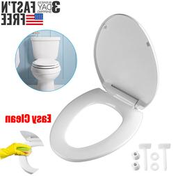Heavy Duty Toilet Seat Cover Round/Elongated Slow Close Easy