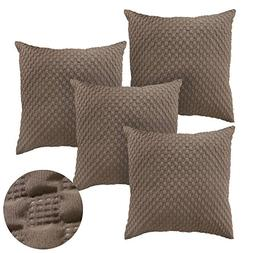 Deconovo Home Decorative Square Embossed Throw Pillow Case C