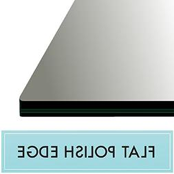 """30"""" X 72"""" Inch Rectangle Clear Tempered Glass Table Top 3/8"""""""