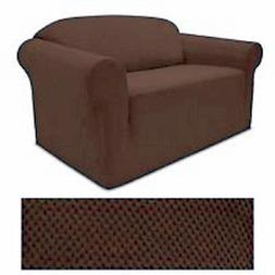 Jersey Stretch Solid CHOCOLATE BROWN Slipcover Set - Sofa co