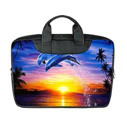 JIUDUIDODO New Fashion Custom Two Dolphins Jumping Out of Se