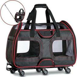 : Katziela Airline Approved Pet Carrier with Wheels for Smal
