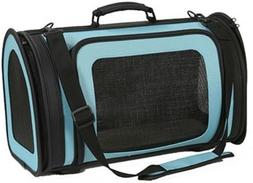 Petote Kelle 6-Pound Pet Carrier Bag, Small, Turquoise Blue