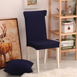 ANJUREN Knit Jacquard Stretch Chair Slipcovers Dining Room H