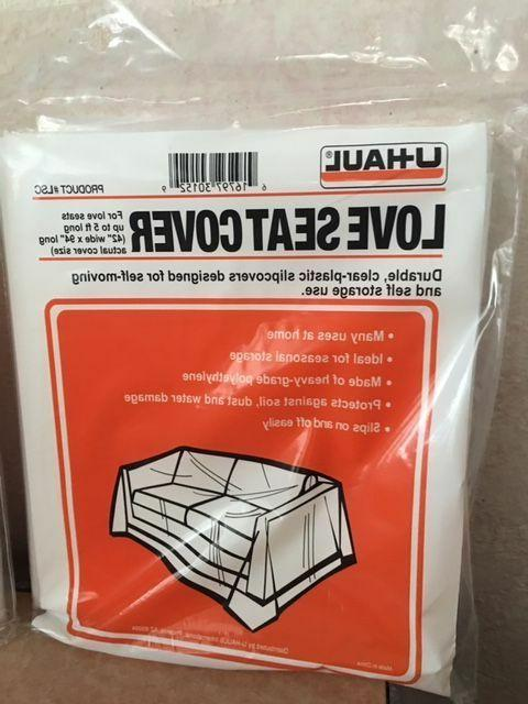 1 durable clear plastic love seat cover
