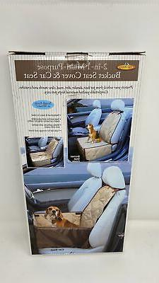 2 in 1 Safety Pet Dog Booster Seat & Front Seat Cover for Do