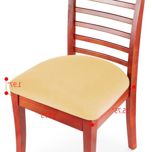 2/4/6 Pcs Removable Elastic Chair Seat