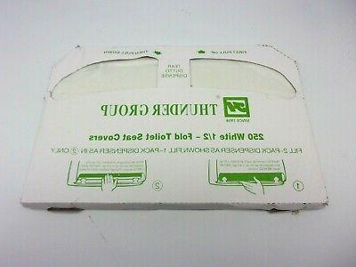 250 white fold toilet seat covers new