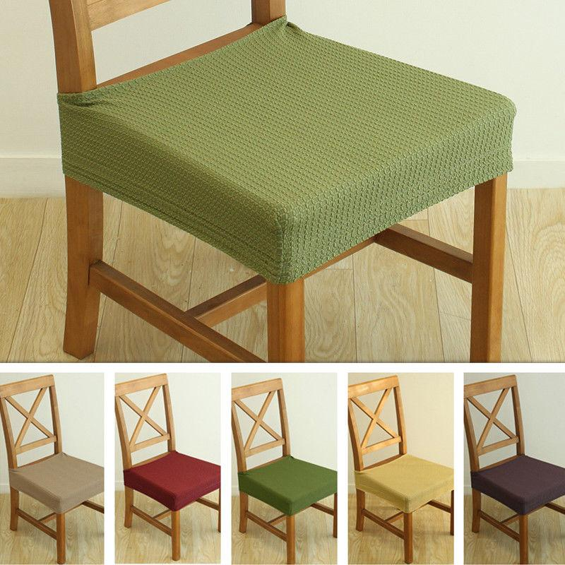 2pcs dining chair seat covers stretch cover