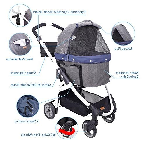 Stroller Dogs 3-in-1 Car Stroller in Travel One Medium or and Cats Suspension