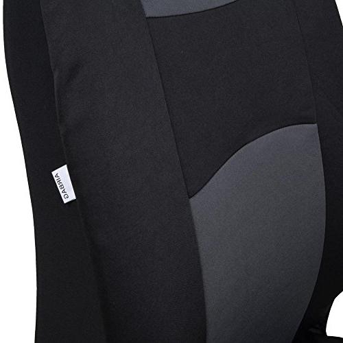 BDK OS309CC Seat Cover, Two-Tone Accent Split Charcoal