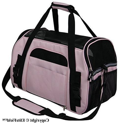 EliteField Soft Sided Pet Carrier Sizes Colors Available