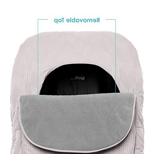JJ Cole - Car Seat Resistant Blanket-Style Canopy Designed and Winter Herringbone, and Up