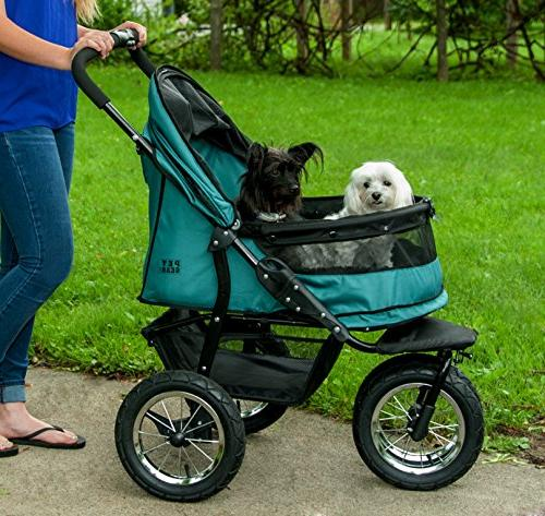 Pet Pet Stroller, for Multiple Dogs/Cats, Plush Weather Air Tires