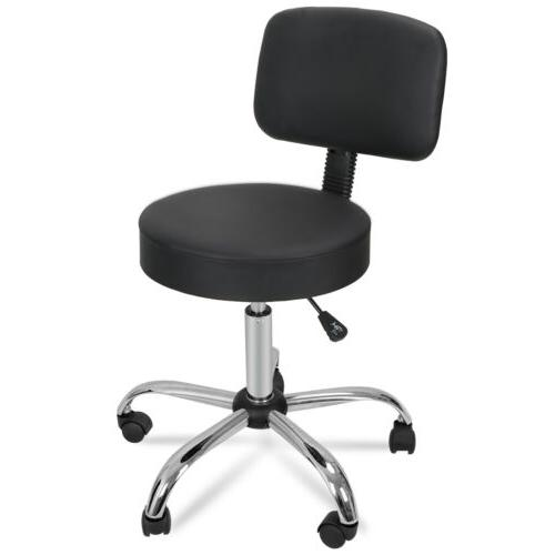 Adjustable Stool Swivel Rolling Chair with Rest