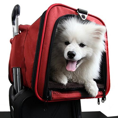 Premium Airline Approved Expandable Pet by Pet Peppy- Two Side Designed Cats, Dogs, Kittens, - Spacious Sided Carrier!