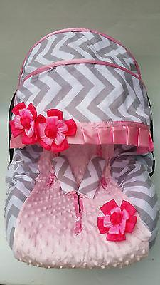 Baby car seat cover canopy cover Most infant car seat chevro