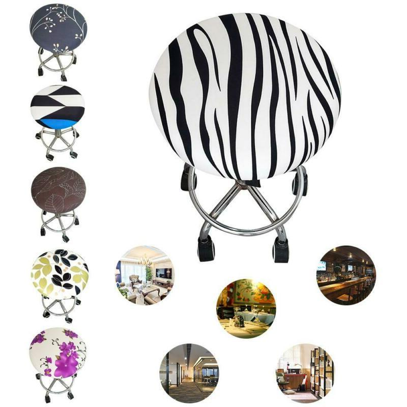 Printed Lovely Bar Stool Covers Round Chair Seat Cover Cushi