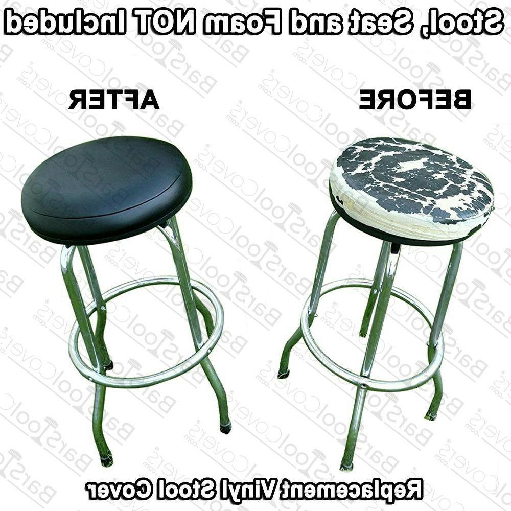 """Bar Stool Seat Cover 19"""" inch Round Replacement STAPLE ON Fa"""