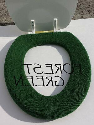 Bathroom Toilet Seat Warmer Cover  Washable - Forest Green -