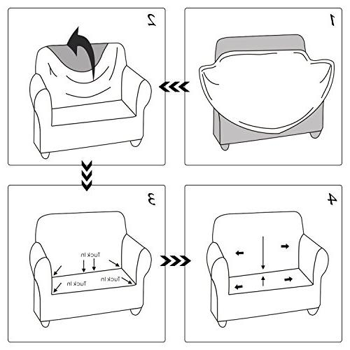 Deconovo Loveseat Couch Spandex Loveseat Protector Loveseat High Elasticity Anti-Wrinkle Solid Couch Slipcover