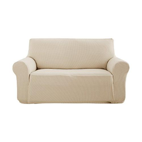beige loveseat slipcover couch cover
